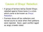 causes of shays rebellion