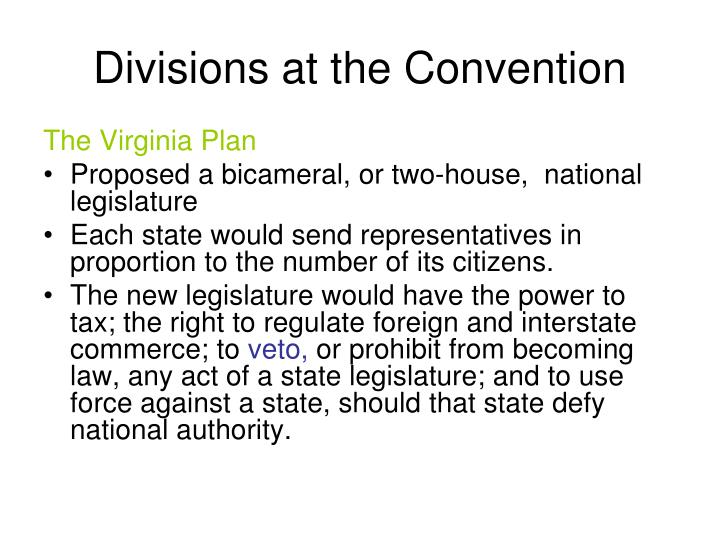 Divisions at the Convention