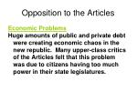 opposition to the articles1