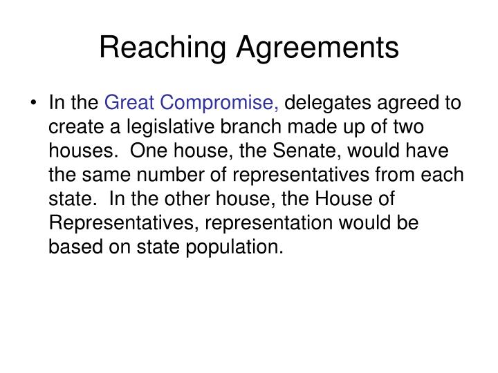 Reaching Agreements