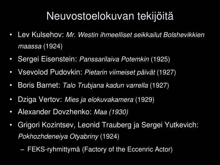 Neuvostoelokuvan tekijöitä