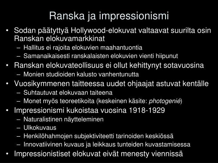 Ranska ja impressionismi