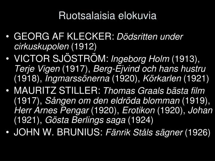Ruotsalaisia elokuvia