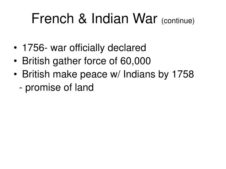 French & Indian War