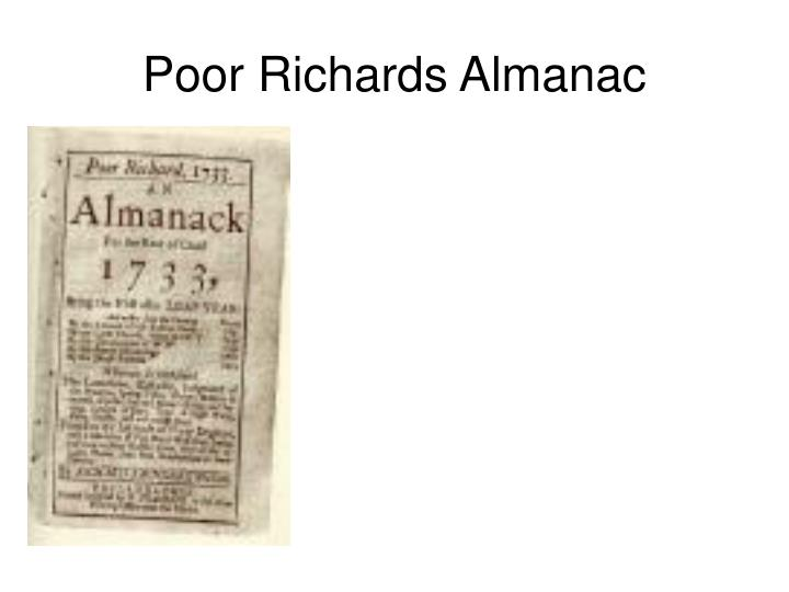Poor Richards Almanac