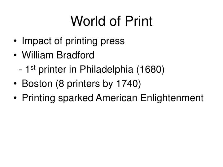 World of Print
