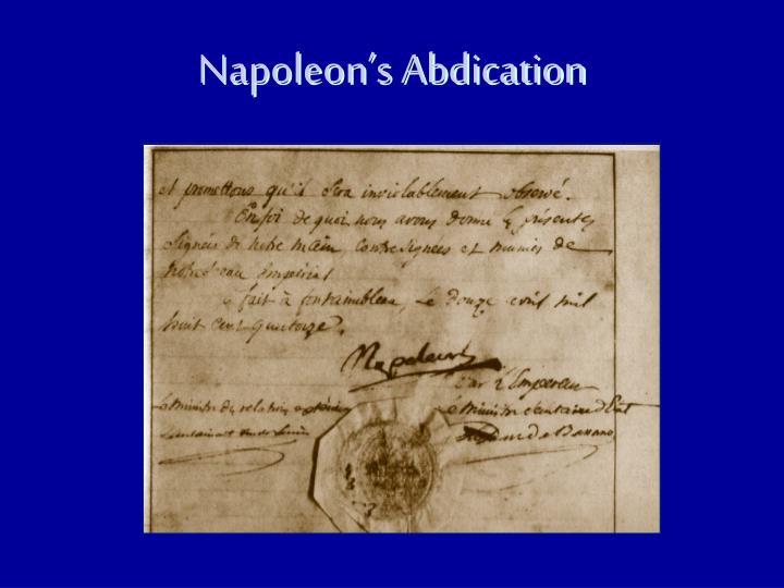 Napoleon's Abdication