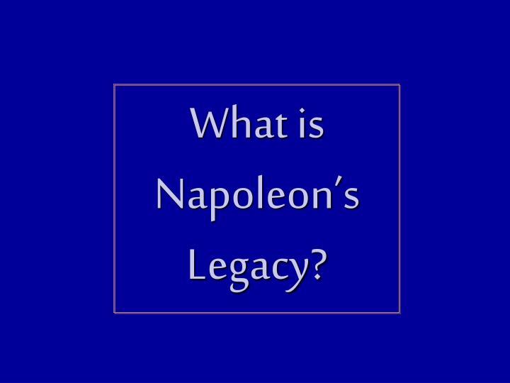 What is Napoleon's Legacy?