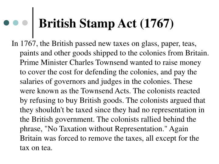 British Stamp Act (1767)