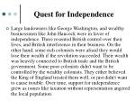 quest for independence1