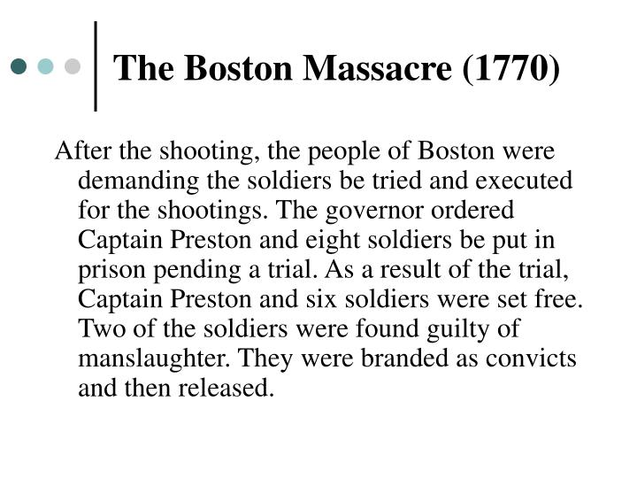 The Boston Massacre (1770)