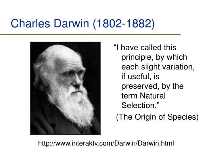 Charles Darwin (1802-1882)