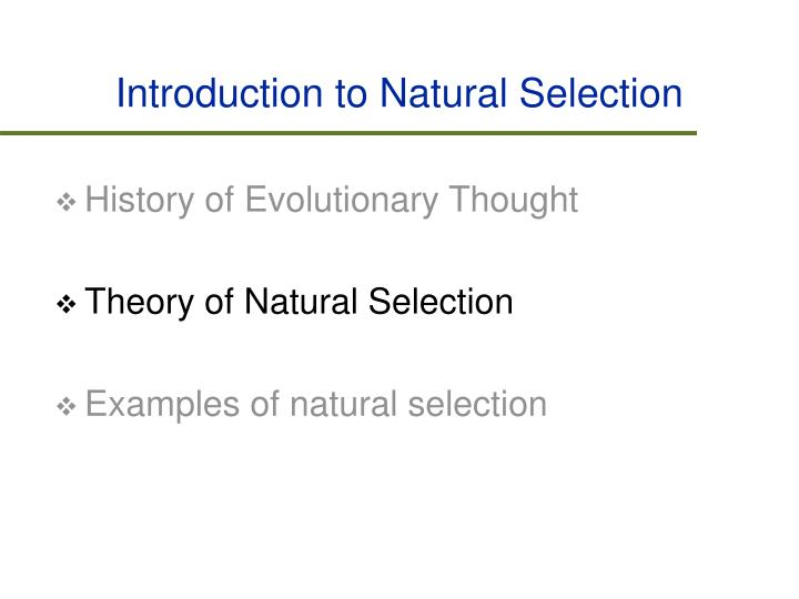 Introduction to Natural Selection