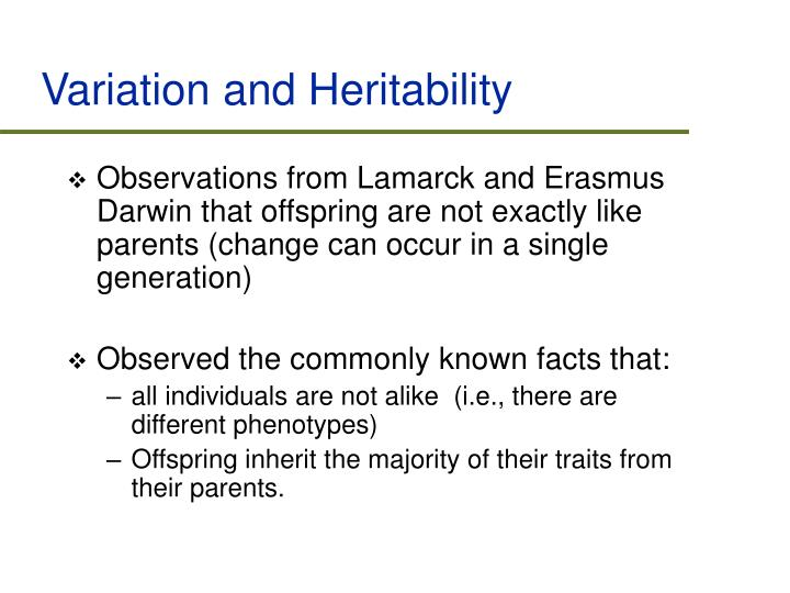 Variation and Heritability