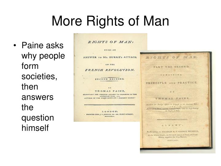 More Rights of Man