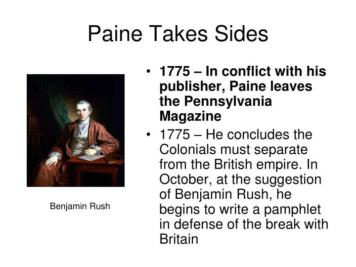 Paine Takes Sides