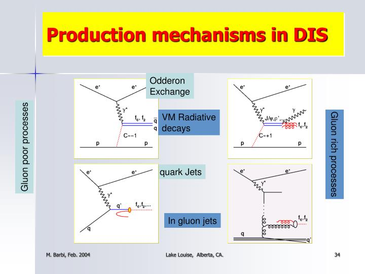 Production mechanisms in DIS