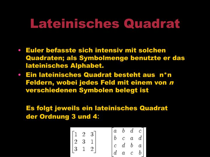 Lateinisches Quadrat