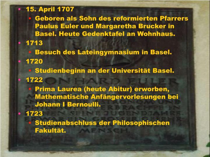 15. April 1707