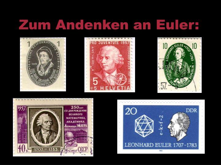 Zum Andenken an Euler: