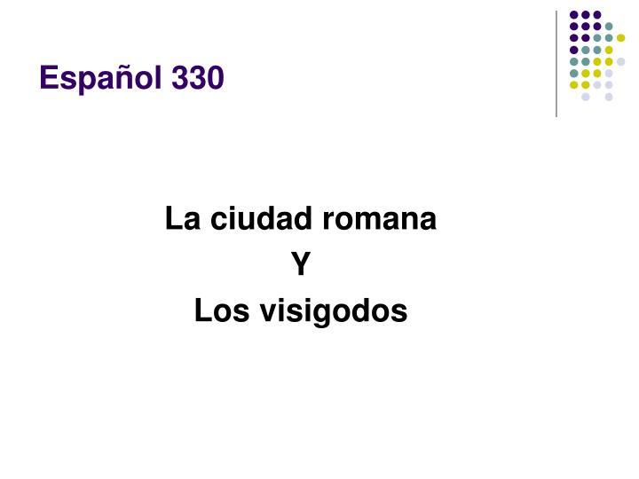 Español 330