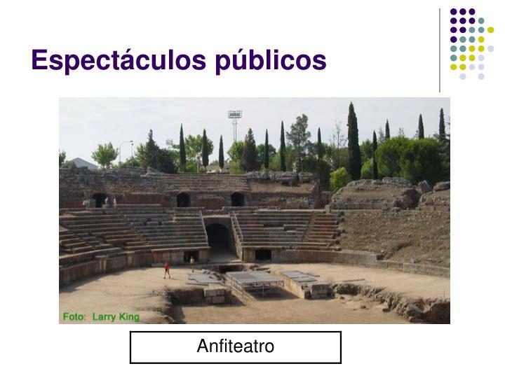 Espectáculos públicos