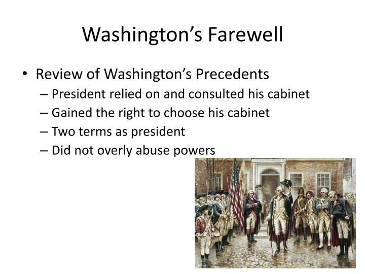 g. washingtons precedents essay George washington's greatest achievements sign up to view the whole essay and download the pdf for anytime access on your computer, tablet or smartphone.