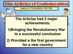 the articles of confederation1