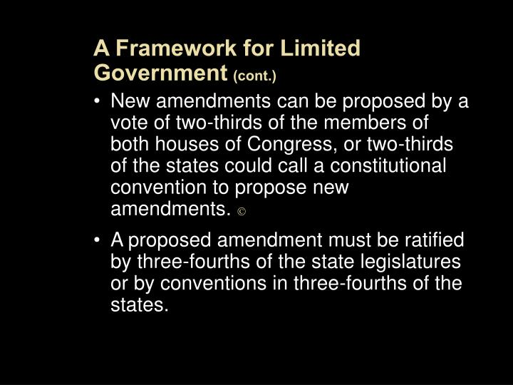A Framework for Limited Government