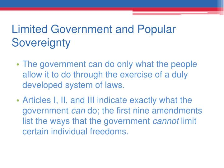 Limited Government and Popular Sovereignty