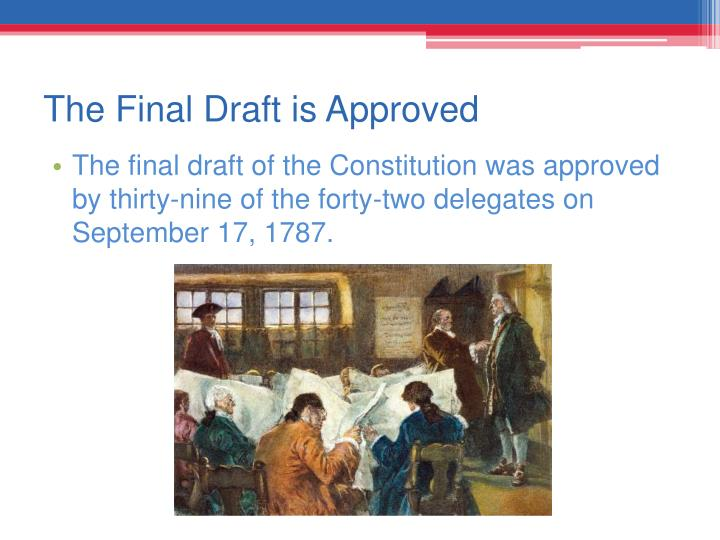 The Final Draft is Approved