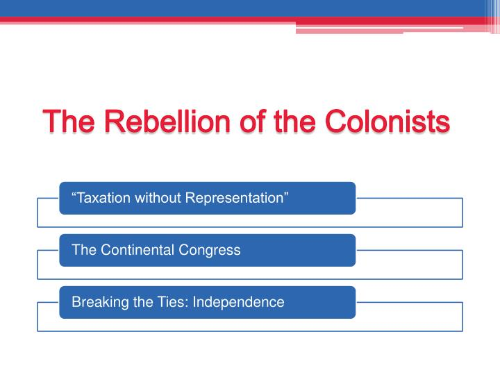 The Rebellion of the Colonists