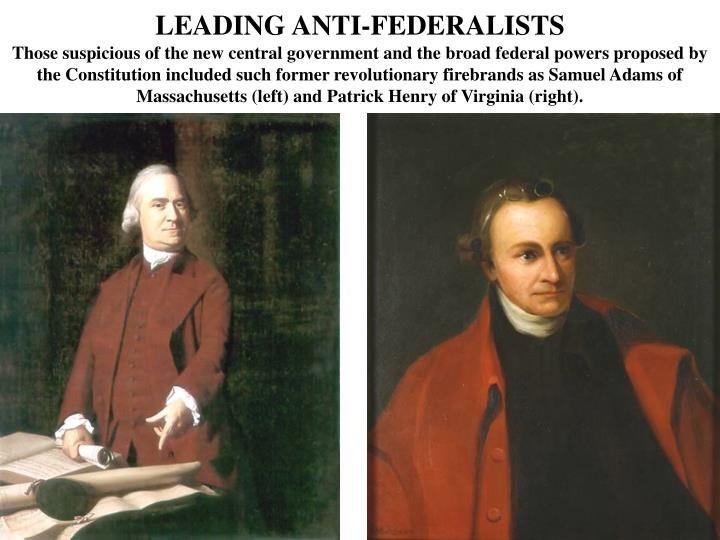 LEADING ANTI-FEDERALISTS