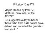 1 st labor day