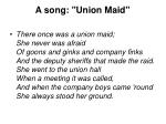 a song union maid