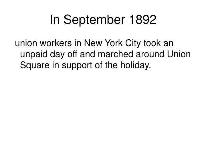 In September 1892