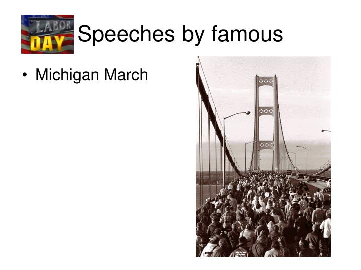 Speeches by famous