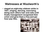 waitresses at woolworth s