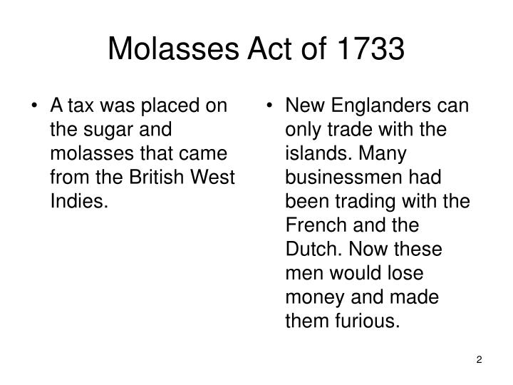 Molasses act of 1733