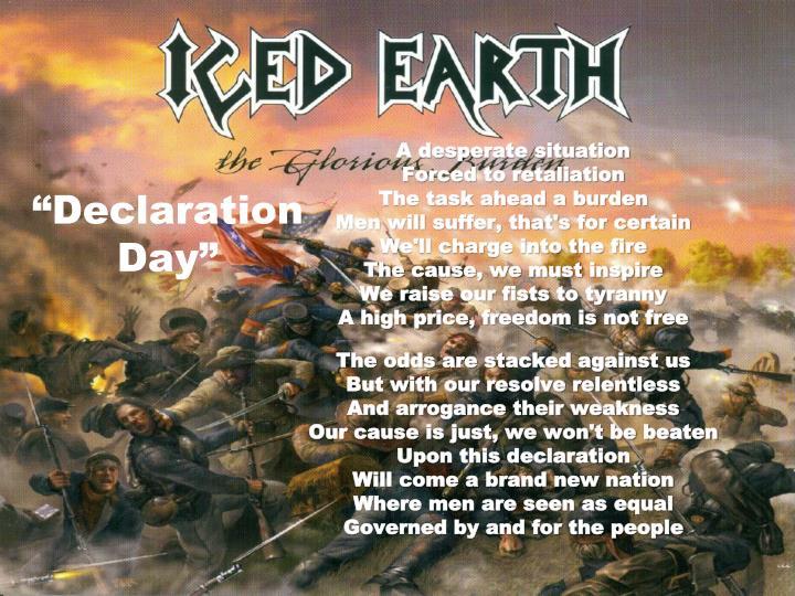"""""""Declaration Day"""""""