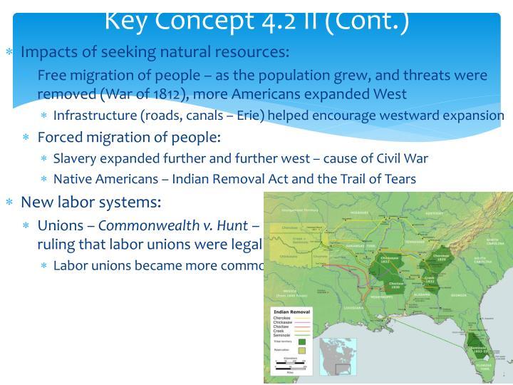 Key Concept 4.2 II (Cont.)