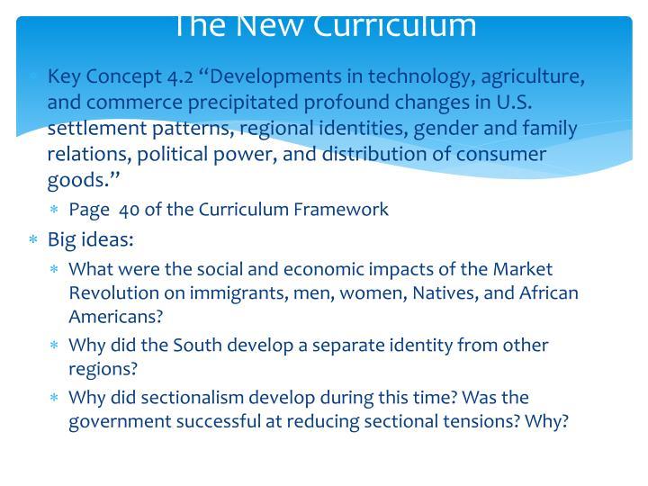 The New Curriculum