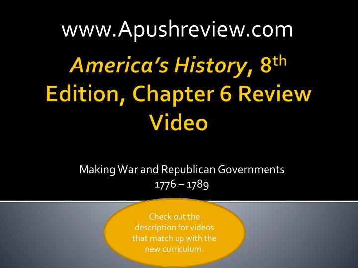 Making war and republican governments 1776 1789