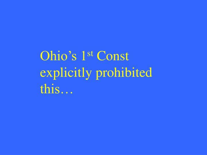 Ohio's 1