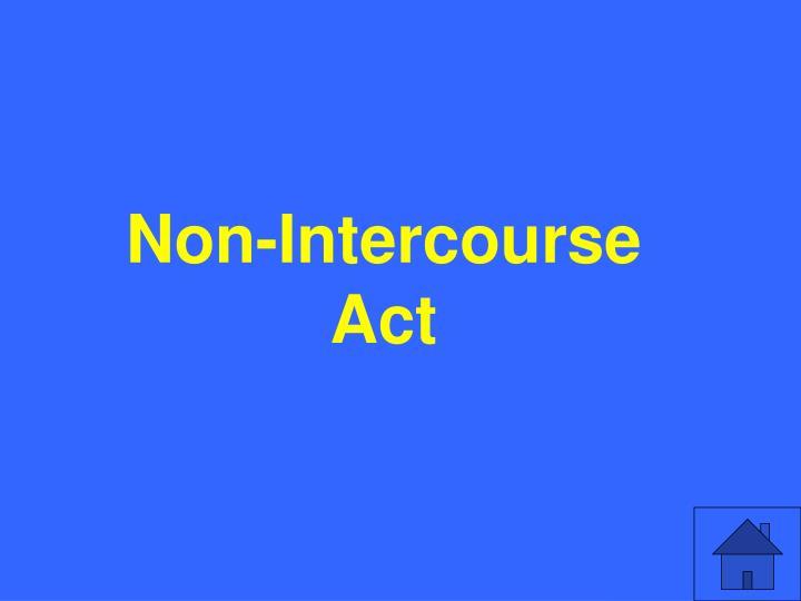 Non-Intercourse Act