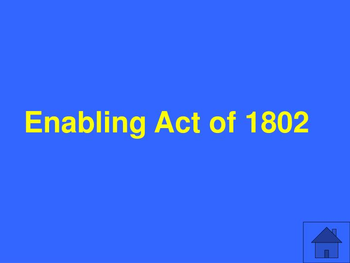 Enabling Act of 1802