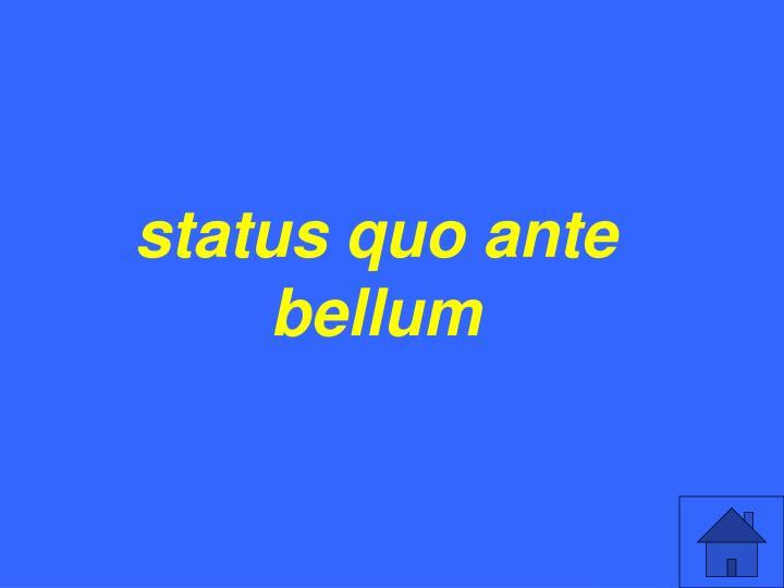 status quo ante bellum