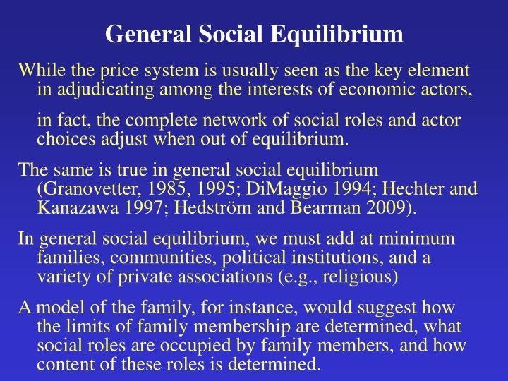 General Social Equilibrium