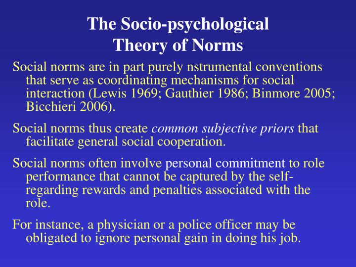 The Socio-psychological