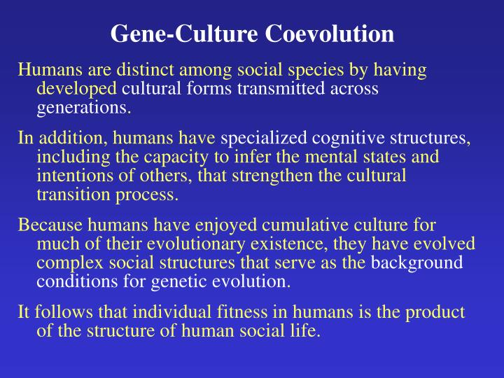 Gene-Culture Coevolution